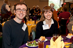 Students at a fundraising dinner