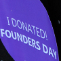 """I donated! Founders Day"" graphic"