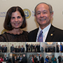 Small collage of photos from President's Dinner and Alumni Hall of Fame: click images icon to view more